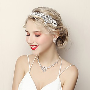 cheap Jewelry Sets-Women's Jewelry Set Fashion Earrings Jewelry White For Wedding Evening Party