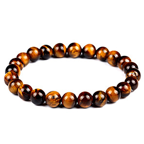 cheap Bracelets-Women's Unisex Onyx Tiger's eye Stone Hawks Eye Stone Bead Bracelet Bracelet Chakra Vintage Bohemian Fashion equilibrio Agate Bracelet Jewelry Brown For Gift Evening Party / Natural Stone