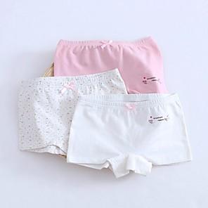 cheap Engraved Bracelets-3 Pieces Kids Girls' Polka Dot Underwear & Socks White