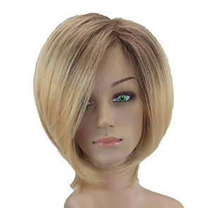 cheap Synthetic Trendy Wigs-Synthetic Wig Straight Straight Wig Blonde Short Blonde Synthetic Hair Middle Part Blonde hairjoy