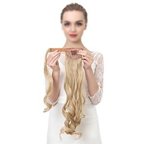 cheap Hair Pieces-Clip In Ponytails / Hair Piece Wrap Around Human Hair Hair Piece Hair Extension Wavy
