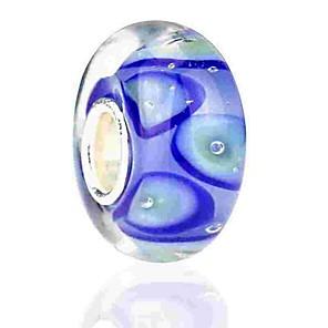 cheap Beads-DIY Jewelry 1 pcs Beads Coloured Glaze Alloy Blue Round Bead 0.2 cm DIY Necklace Bracelet