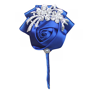 cheap Wedding Flowers-Wedding Flowers Boutonnieres Wedding / Event / Party Satin 3.94 inch