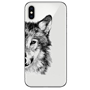 cheap iPhone Cases-Case For Apple iPhone X / iPhone 8 Plus / iPhone 8 Ultra-thin / Transparent / Pattern Back Cover Animal Soft TPU