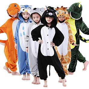 cheap Wireless Chargers-Kid's Kigurumi Pajamas Giraffe Animal Onesie Pajamas Flannel Toison Green / White / Orange Cosplay For Boys and Girls Animal Sleepwear Cartoon Festival / Holiday Costumes