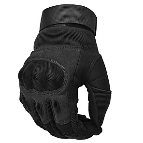 cheap Binoculars, Monoculars & Telescopes-Climbing Protection Sports Gloves Protective Non-Slippery PU Leather Carbon Fiber Climbing Camping / Hiking / Caving Activity & Sports Gloves Cycling Black Army Green Khaki 1 pcs