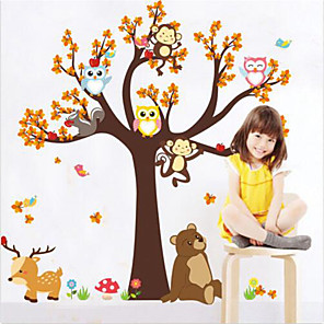 cheap Wall Stickers-Animals Wall Stickers Plane Wall Stickers Decorative Wall Stickers, Vinyl Home Decoration Wall Decal Wall Decoration 1