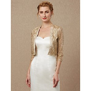 cheap Bathroom Gadgets-3/4 Length Sleeve Shrugs Sequined Wedding / Party / Evening Women's Wrap With