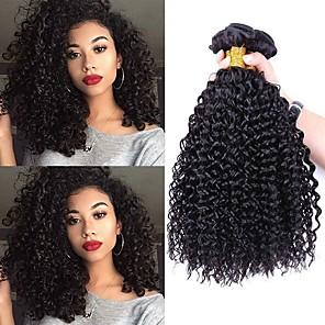 cheap Human Hair Weaves-4 Bundles Hair Weaves Brazilian Hair Deep Wave Human Hair Extensions Remy Human Hair 100% Remy Hair Weave Bundles 400 g Natural Color Hair Weaves / Hair Bulk Human Hair Extensions 8-28 inch Natural