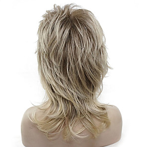 cheap Synthetic Trendy Wigs-Synthetic Wig Straight Straight Layered Haircut Wig Blonde Medium Length Light golden Light Brown Synthetic Hair Women's Kanekalon Hair Highlighted / Balayage Hair Blonde StrongBeauty