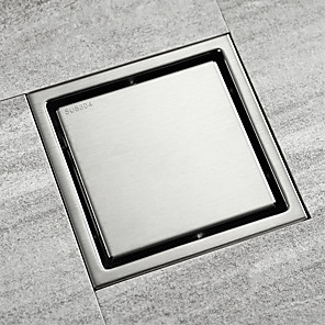 cheap Drains-Drain SUS304 Stainless Steel Brushed finish tile insert Bathroom Floor Mounted 30cm