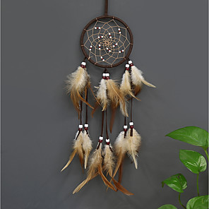 cheap Abstract Paintings-Handmade Dream Catchers With Feather Traditional Wall Hangings Decoration