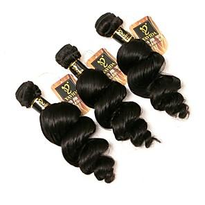 povoljno Ekstenzije od ljudske kose-3 paketa Brazilska kosa Valovita kosa Ljudska kosa 300 g Ljudske kose plete Isprepliće ljudske kose Proširenja ljudske kose / 8A