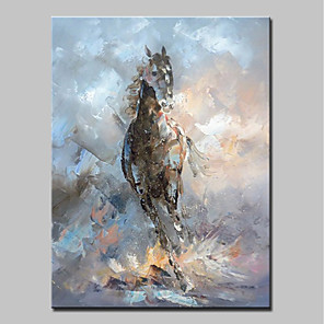 cheap Abstract Paintings-Mintura® Hand-Painted Abstract Horse Animal Oil Paintings On Canvas Modern Wall Art Picture For Home Decoration Ready To Hang