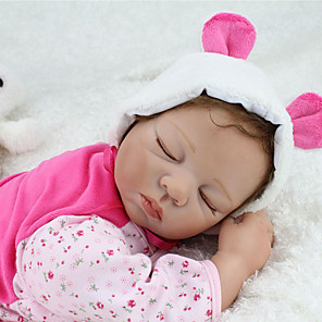 cheap Reborn Doll-NPKCOLLECTION 22 inch NPK DOLL Reborn Doll Baby & Toddler Toy Baby Reborn Baby Doll lifelike Cute Hand Made Child Safe Non Toxic 3/4 Silicone Limbs and Cotton Filled Body with Clothes and Accessories