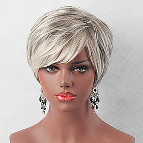 cheap Human Hair Capless Wigs-Human Hair Wig Classic Natural Wave Classic Natural Wave White Jet Black Daily