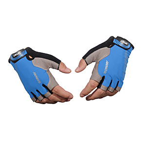 cheap Others-Half-finger Unisex Motorcycle Gloves Cloth Demin Breathability / Wearable / Non-Skid
