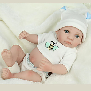 cheap Reborn Doll-NPKCOLLECTION 12 inch NPK DOLL Reborn Doll Baby lifelike Cute Hand Made Child Safe Non Toxic Full Body Silicone 28cm with Clothes and Accessories for Girls' Birthday and Festival Gifts / Kid's