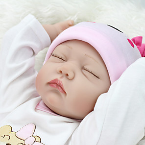cheap Dolls Accessories-NPK DOLL 22 inch Reborn Doll People Family lifelike Cute Child Safe Non Toxic Lovely with Clothes and Accessories for Girls' Birthday and Festival Gifts / Kid's / 14 Years & Up / CE Certified