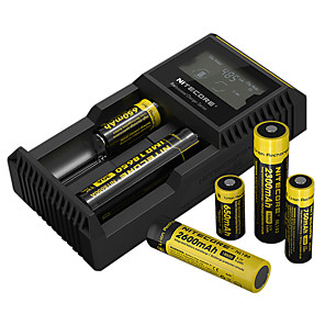 cheap Flashlights & Camping Lanterns-Nitecore UM20 Battery Charger 5 V for Li-ion Smart USB LCD Circuit Detection Circuit Protection 18650,18490,18350,17670,17500,16340(RCR123), 14500,10440 Camping / Hiking / Fishing
