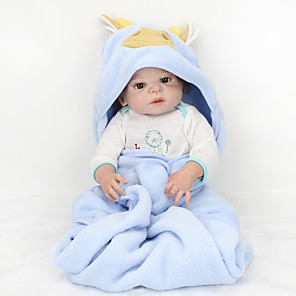 cheap Reborn Doll-NPK DOLL 22 inch Reborn Doll Girl Doll Baby Girl Reborn Baby Doll lifelike Cute Hand Made Child Safe Non Toxic Full Body Silicone 55cm with Clothes and Accessories for Girls' Birthday and Festival