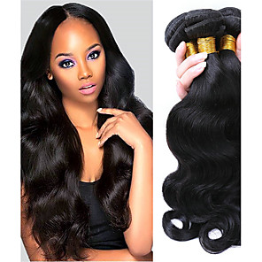 cheap Human Hair Weaves-3 Bundles Hair Weaves Brazilian Hair Body Wave Human Hair Extensions Remy Human Hair 100% Remy Hair Weave Bundles 300 g Natural Color Hair Weaves / Hair Bulk Human Hair Extensions 8-28 inch Natural