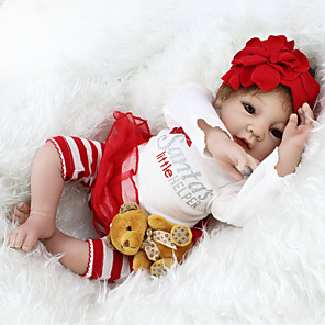 cheap Reborn Doll-NPKCOLLECTION 22 inch Reborn Doll Baby Reborn Baby Doll lifelike Cute Hand Made Child Safe Non Toxic Cloth 3/4 Silicone Limbs and Cotton Filled Body 55cm with Clothes and Accessories for Girls