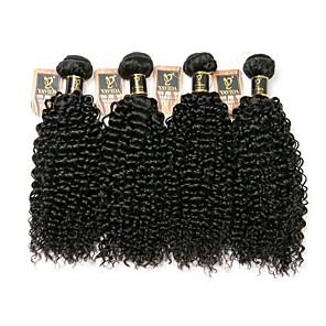 cheap 4 Bundles Human Hair Weaves-4 Bundles Hair Weaves Brazilian Hair Kinky Curly Human Hair Extensions Remy Human Hair 100% Remy Hair Weave Bundles 400 g Natural Color Hair Weaves / Hair Bulk Human Hair Extensions 8-28 inch Natural
