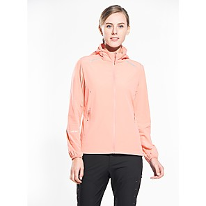 cheap Softshell, Fleece & Hiking Jackets-Snowwolf® Women's Hiking Jacket with Pants Outdoor UV Resistant Super Slim High Elasticity Top Spandex Full Length Visible Zipper Casual Outdoor Exercise Traveling White / Fuchsia / Orange / Green
