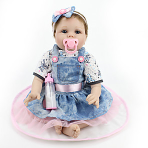 cheap Reborn Doll-NPKCOLLECTION 22 inch NPK DOLL Reborn Doll Girl Doll Baby Girl Reborn Baby Doll lifelike Cute Hand Made Child Safe Non Toxic 55cm with Clothes and Accessories for Girls' Birthday and Festival Gifts