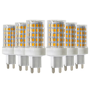cheap LED Bi-pin Lights-6pcs 10W 900-1000lm G9 LED Bi-pin Lights 86LED 2835SMD  High Quality Ceramic Dimmable LED Light Bulb AC 220-240V
