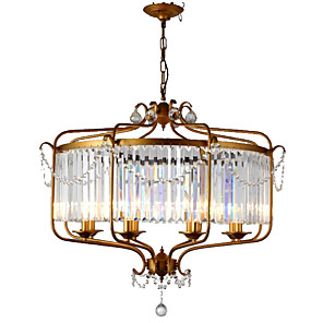 cheap Candle-Style Design-LightMyself™ 8-Light 85 cm Crystal Chandelier / Pendant Light Metal Crystal Painted Finishes Retro Vintage / Country 110-120V / 220-240V