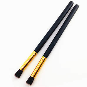 cheap Makeup Brush Sets-Professional Makeup Brushes Eyeshadow Brush 2pcs Professional Soft Wooden Eyeshadow Brushes for Eyeshadow Brush