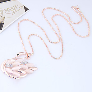 cheap Necklaces-Women's Pendant Necklace Long Swan Animal Ladies European Fashion Alloy Gold Necklace Jewelry For Causal