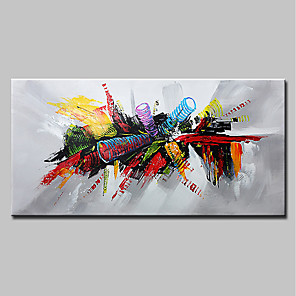 cheap Abstract Paintings-Hand-Painted Canvas Abstract Pop Art Modern Canvas Ready To Hang