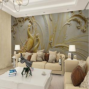 povoljno Zidne tapete-Art Deco Uzorak 3D Početna Dekoracija Vintage Moderna Zidnih obloga, Platno Materijal Ljepila potrebna Mural, Soba dekoracija ili zaštita