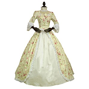 cheap Historical & Vintage Costumes-Costume Print Vintage Cosplay Lace Plus Size Customized