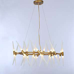 cheap Candle-Style Design-ZHISHU 75 cm Adjustable Chandelier Metal Painted Finishes Nature Inspired / Chic & Modern 110-120V / 220-240V