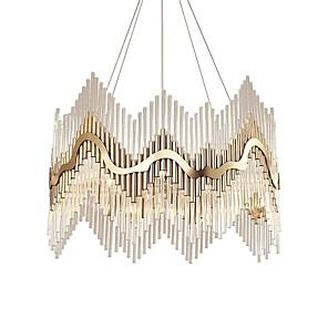cheap Globe Design-QIHengZhaoMing 6-Light 60 cm Crystal / Eye Protection Chandelier Crystal Crystal Electroplated LED / Chic & Modern 110-120V / 220-240V