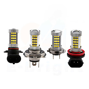 cheap Car Fog Lights-H8 / 9006 / 9005 Car Light Bulbs 35W SMD 3528 3200lm 66 LED Beads Fog Light For universal All Models All years white red yellow blue color selective