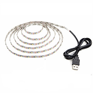 cheap LED Strip Lights-1PC 1M LED Light Strips Waterproof Tiktok Lights Flexible 60 x 2835 SMD 10mm LEDs USB Powered Warm White Cold White Decorative 5 V TV Background Lights