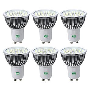 cheap LED Spot Lights-YWXLIGHT® 6pcs 7W 600-700lm GU10 LED Spotlight 48 LED Beads SMD 2835 Warm White Cold White Natural White