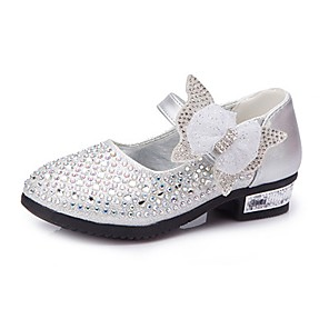 58f942d10659 Girls  Shoes Leatherette Spring   Fall Comfort   Flower Girl Shoes Heels  Rhinestone   Bowknot
