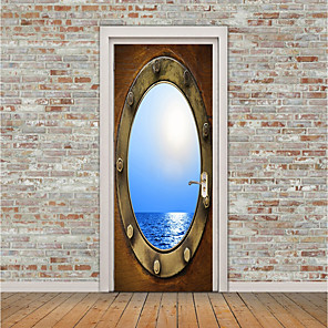 cheap Wall Stickers-3D Wall Stickers Plane Wall Stickers / 3D Wall Stickers Door Stickers, Vinyl Home Decoration Wall Decal Wall / Window Decoration 1pc / Re-Positionable