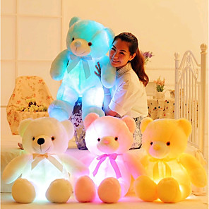 cheap Stuffed Animals-LED Lighting Stuffed Animal Plush Toys Plush Dolls Stuffed Animal Plush Toy Romance Creative Teddy Bear Lovely Plush Imaginative Play, Stocking, Great Birthday Gifts Party Favor Supplies Girls'