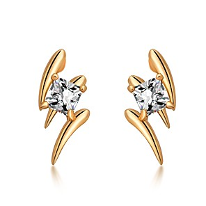 cheap Party Sashes-Women's Diamond Cubic Zirconia Stud Earrings Dainty Ladies Korean Fashion Zircon Earrings Jewelry Gold / Silver For Daily Work