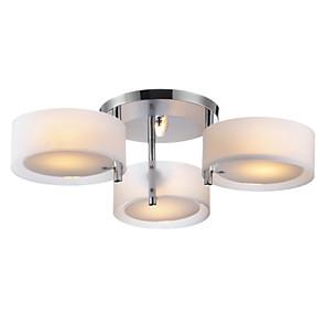 "cheap Candle-Style Design-1-Light Lightinthebox 64(25"") Mini Style Flush Mount Lights Metal Acrylic Chrome Modern Contemporary 110-120V / 220-240V / E26 / E27"