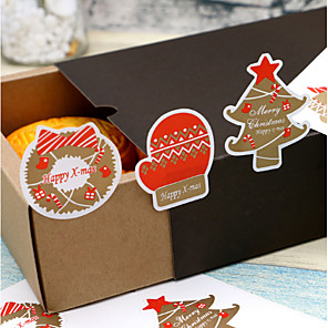 cheap Gifts & Decorations-Christmas / Holiday Stickers, Labels & Tags - 12 pcs Irregular Stickers All Seasons