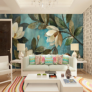 cheap Wall Murals-3D Set Hand-Painted White Gardenia Large Wall Covering Mural Wallpaper Suitable Bedroom Restaurant Floral