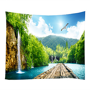 cheap Wall Stickers-Garden Theme Landscape Wall Decor 100% Polyester Contemporary Wall Art, Wall Tapestries of